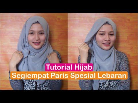 Tutorial Hijab Segiempat Paris Spesial Lebaran 2016 ( INDONESIA ) - Amalia Kurnia -