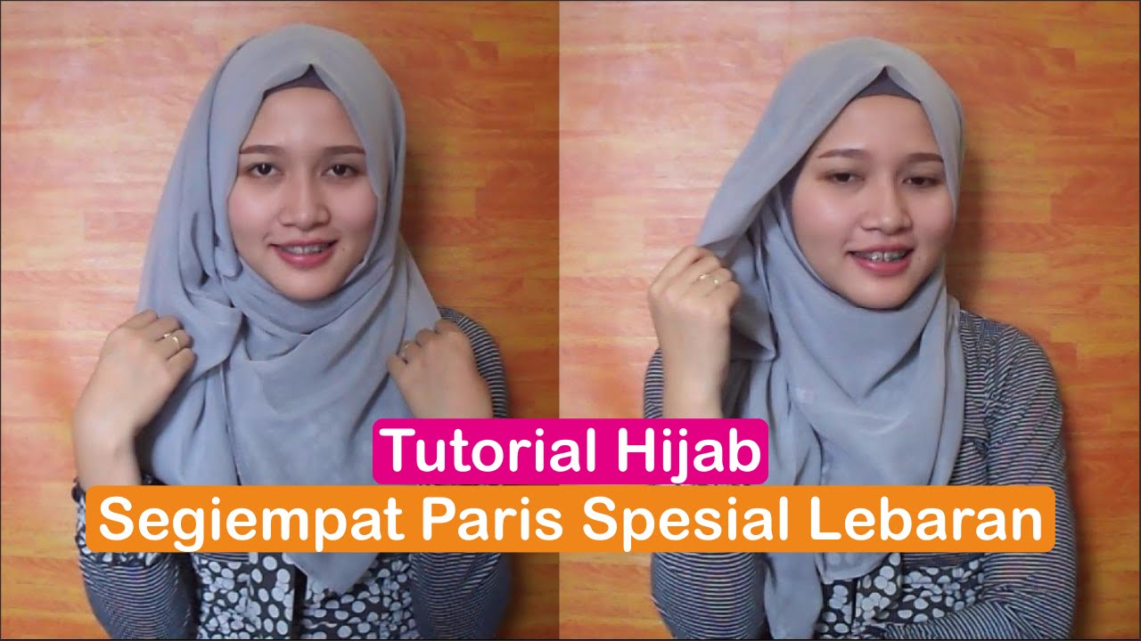 Tutorial Hijab Segiempat Paris Spesial Lebaran 2016 INDONESIA