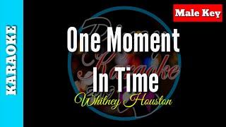 One moment in time by whitney houston( karaoke : male key)