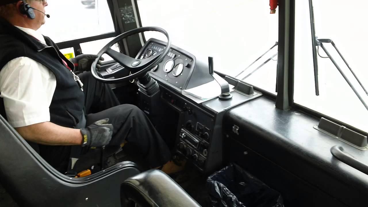 shifting a bus youtube rh youtube com IC School Bus Interior International School Bus