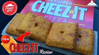 Pizza Hut® Stuffed Cheez-It® Pizza Review! 🍕🧀😲
