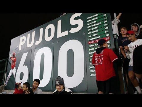 Albert Pujols hitting his 600th home run at Angel Stadium!