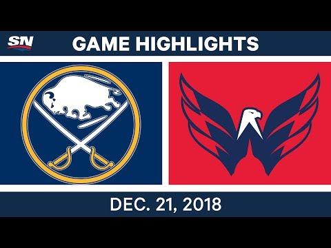 NHL Highlights | Sabres vs. Capitals - Dec 21, 2018