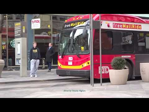 (Pedestrian and Buses Only) MallRide Buses in Denver, Colorado 2018