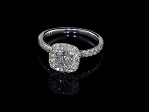 Princess Cut Diamond Halo Isabella Engagement Ring