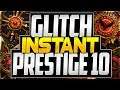 GLITCH COD WORLD WAR 2 - NEW EPIC INSTANT PRESTIGE GLITCH ZOMBIES ( PRESTIGE 10 GLITCH WW2 ZOMBIES )