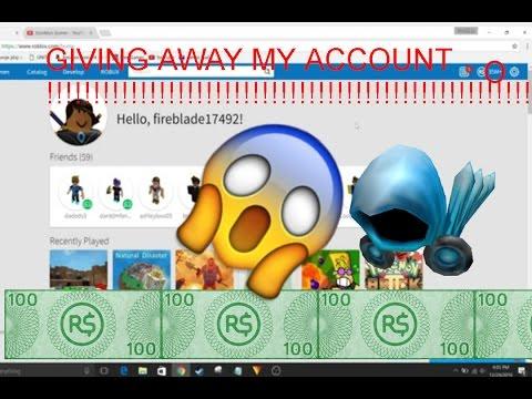 giving away roblox accounts