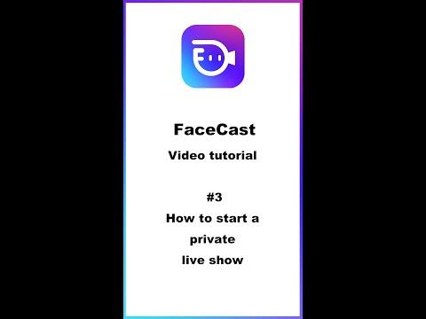 [Tutorial # 3] -private Hidup. Cara Memulai Siaran Langsung Pribadi (mode Pesta) Di FaceCast.