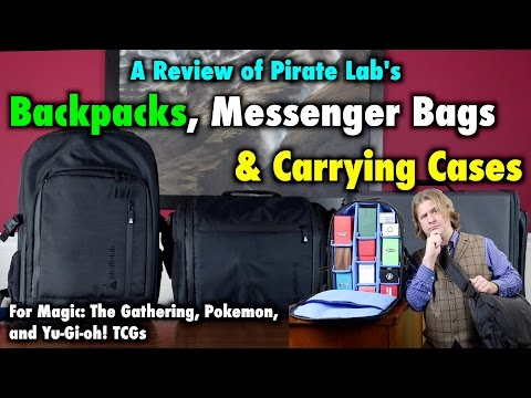 A Review Of Pirate Lab's Backpacks, Messenger Bags, and Cases for Magic The Gathering, Pokemon TCG