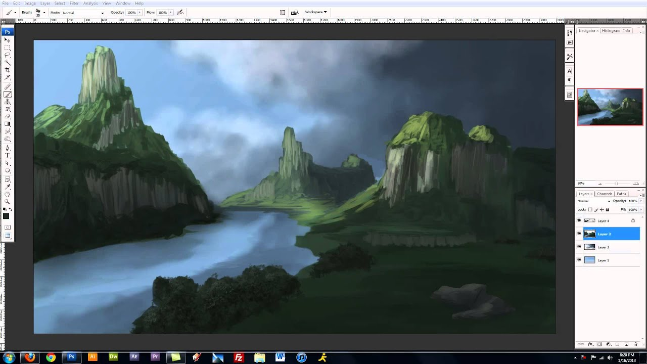 how to make mountains clear in photoshop