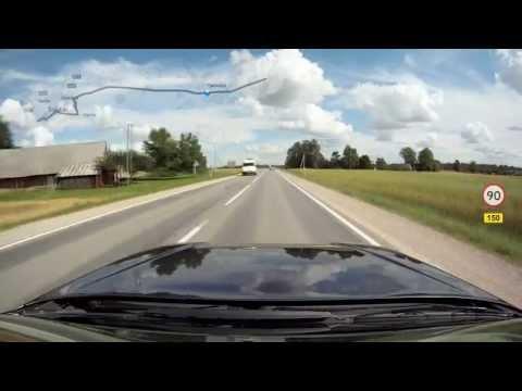 Lithuania, Šiauliai - Highway (Plentas) [150] - Pakruojis, 56 km, 17 Aug 2012