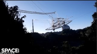 Arecibo Observatory destruction captured by drone and control room