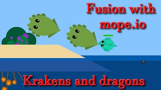 Deeeep.io all animal || Fusion mope.io and deeeep.io || New animals || funny, troll and hack