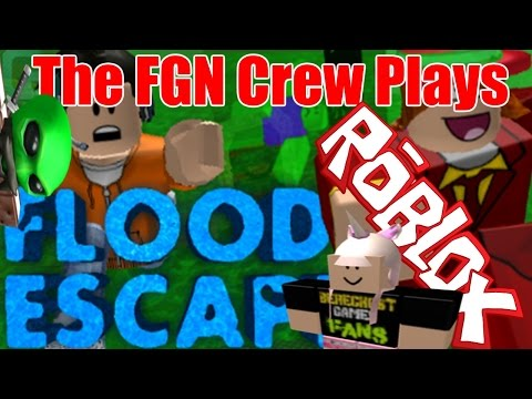 The FGN Crew Plays: ROBLOX - Flood Escape FAIL (PC)