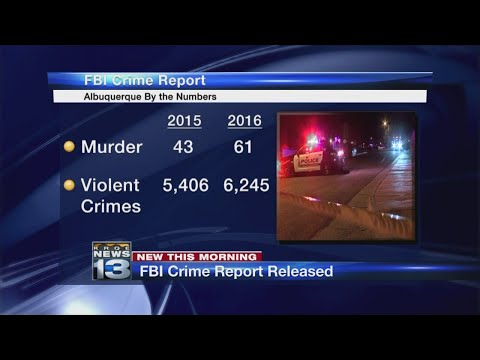 New FBI reports proves crime is big problem in Albuquerque