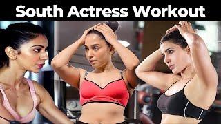 South Hot Actress Gym Workout | Actress Workout Video Rakul Preet, Rashmika, Kajal Agarwal, Samantha