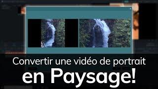 Comment convertir une vidéo de portrait en paysage !    Tuto Filmora