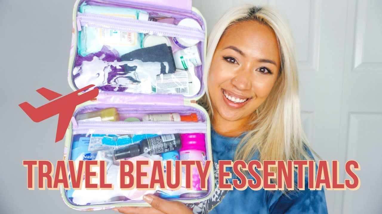 PACK WITH ME FOR OUR MYSTERY VACATION | Makeup Beauty & Skincare Travel Essentials