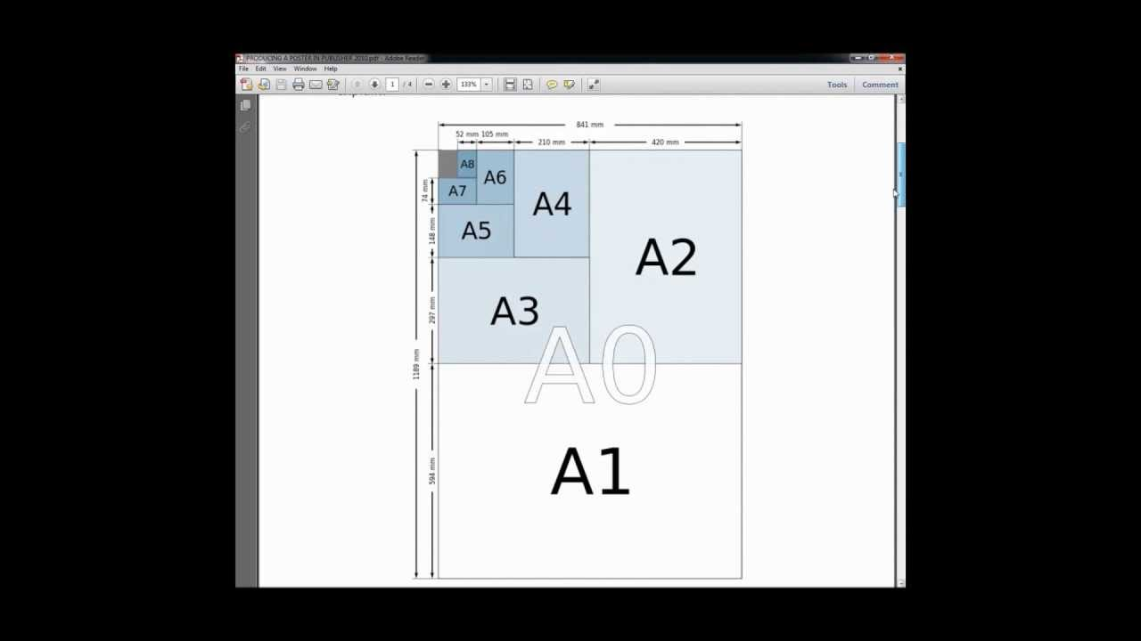 how to create a large poster using publisher 2010