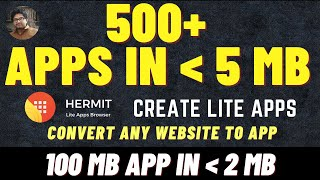 Hermit Lite App Browser | Create Lite Apps | Convert any Website to App | How to use Hermit App ? screenshot 3