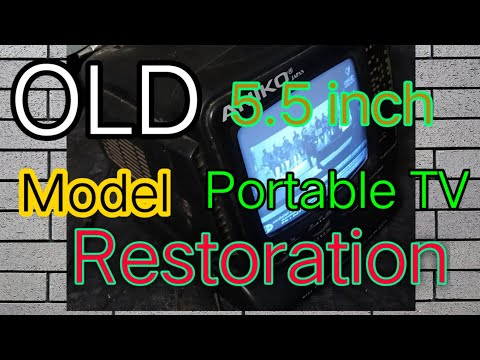 #MiniTV #Restoration OldModel 5.5 inch Mini tv restoration