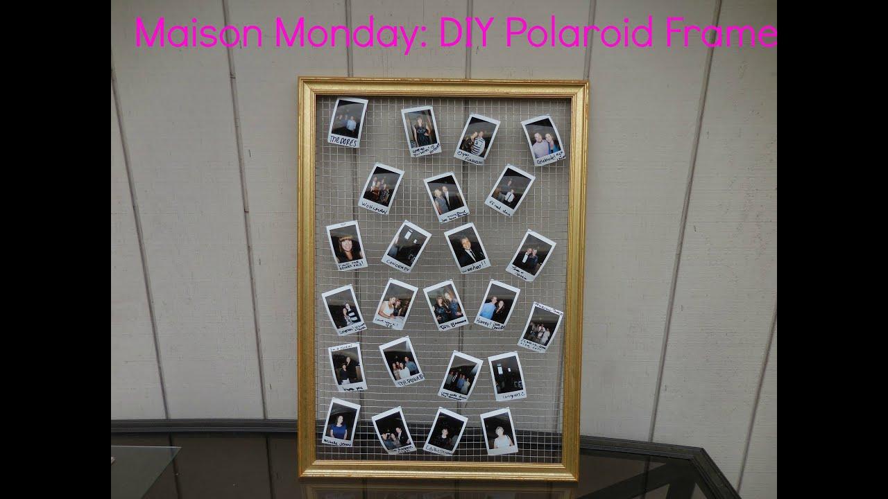 Maison Monday DIY Polaroid Frame - YouTube