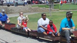 Mary and Kayla Ride The Rohr Park Train