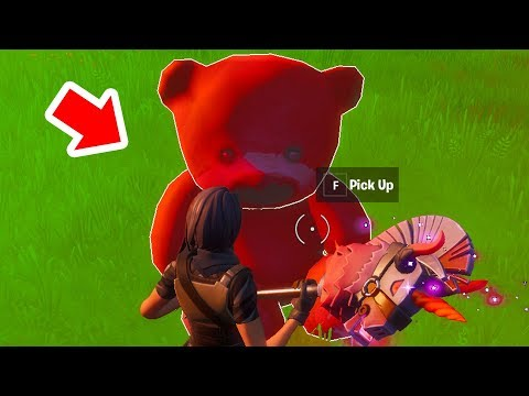 Carry A Giant Pink Teddy Bear Found In Risky Reels 100 Meters Fortnite