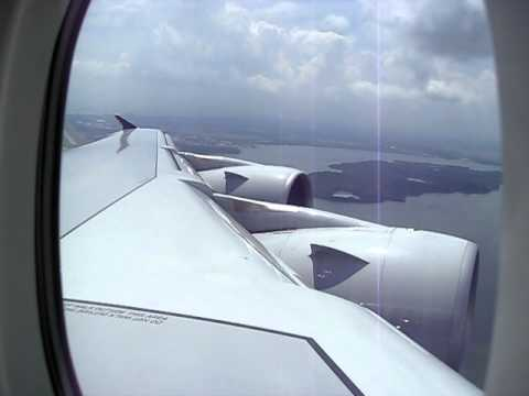 A380 take off showing wing flex.