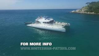 WHITE SWAN PATTAYA JOMTIEN CATAMARAN BOAT TOUR NOV 2016 for booking email oddjob@heime.net