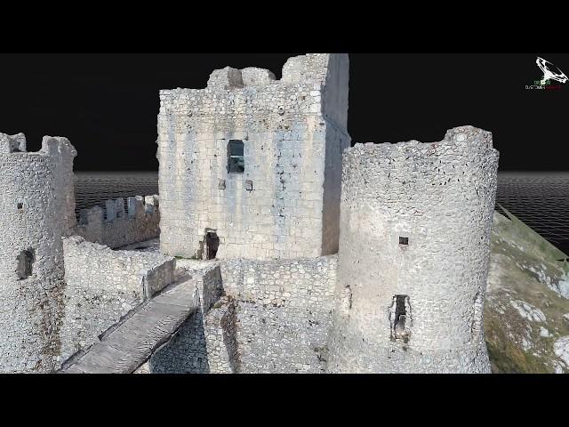 CASTELLO DI ROCCA CALASCIO AEROFOTOGRAMMETRIA ANIMAZIONE MODELLO 3D