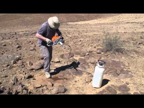 Drilling Core samples in the field
