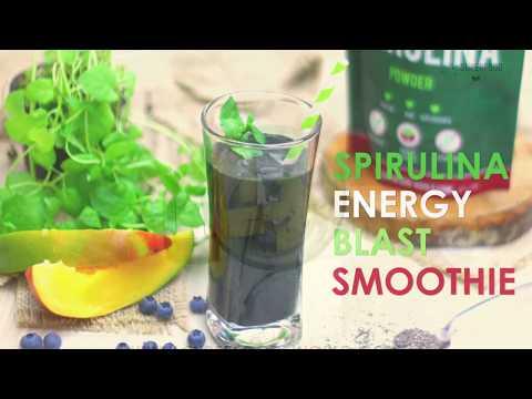 Spirulina Green Smoothie Energy Blast Recipe - Superfood World