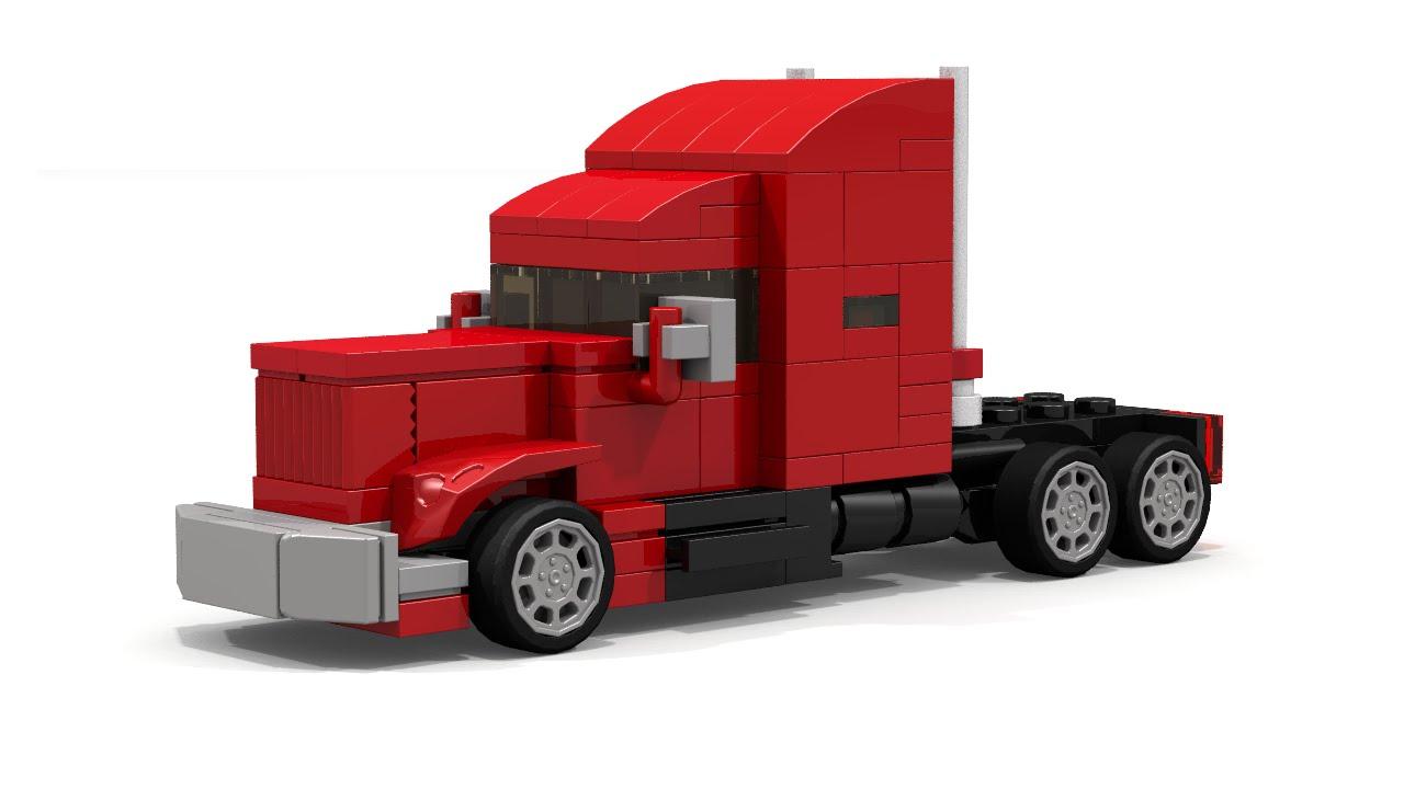 Lego Mini Semi Truck Intructions Youtube