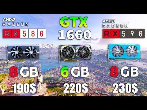 GTX 1660 Vs RX 580 Vs RX 590 Test In 8 Games
