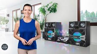 Sofie explores the Panasonic, SCMAX9000GN, Hi Fi System