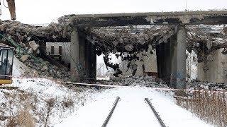 Rozbiórka wiaduktu - ul. Towarowa w Olsztynie