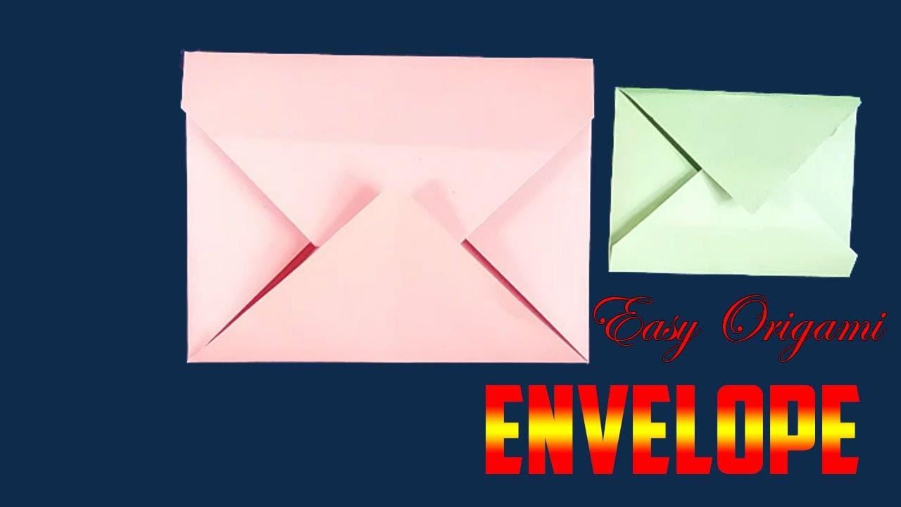 Super Easy Origami Envelope Tutorial - DIY - Paper Kawaii - YouTube | 720x1280