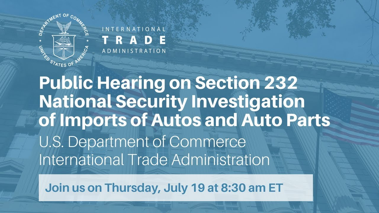 Public Hearing on Section 232 National Security