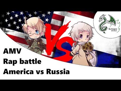 AMV Hetalia - RAP BATTLE America VS Russia