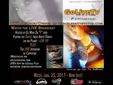 Go Live Tvhour broadcasting feat Feat. NYC Author and TheCelebrityStatus.com Blogger Cappucine s2ep6