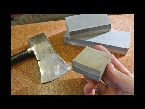 $1 axe sharpening stone: will it shave? And fire-side chat.