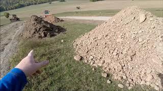 Sondeln - dann habe ich die Fahrradweg Baustelle entdeckt und hab die Erdhaufen durchsucht.