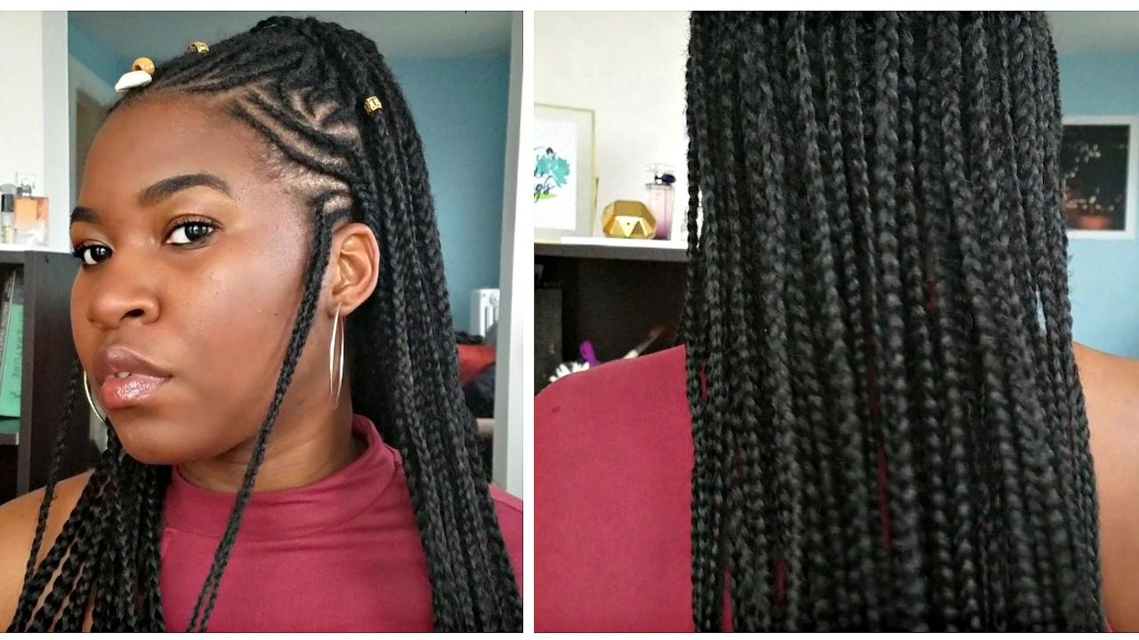 How To Fulani Inspired Box Braids Tutorial YouTube