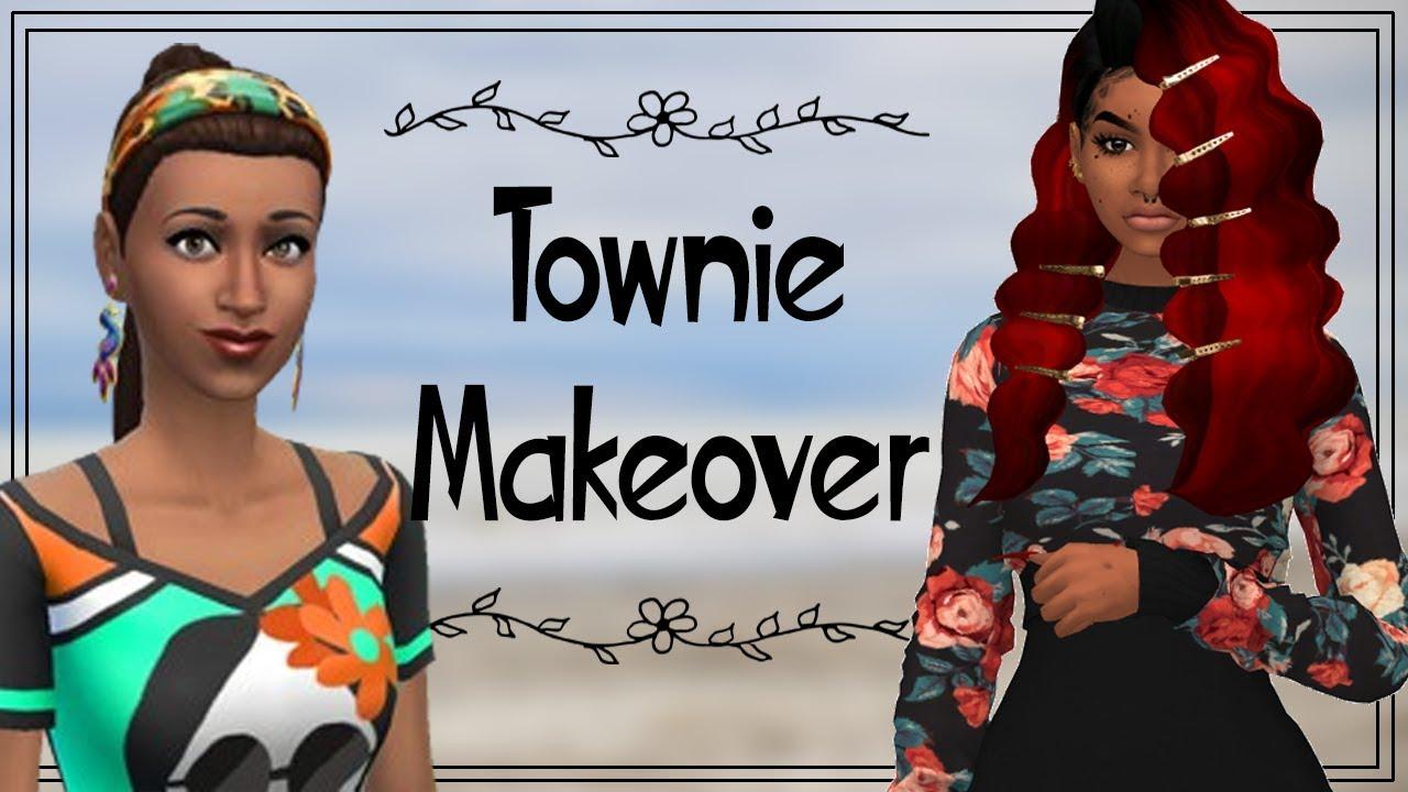Sims 4 CAS | TOWNIE MAKEOVER | Penny Pizzaz +CC Links - Смотреть