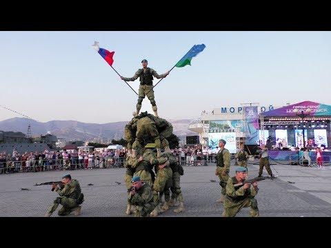 Показательные выступления 108 десантно-штурмового полка Новороссийск 15.09.2019