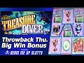 Treasure Diver Slot - TBT Live Play and Free Spins Big Win Bonus in Double or Nothing attempt