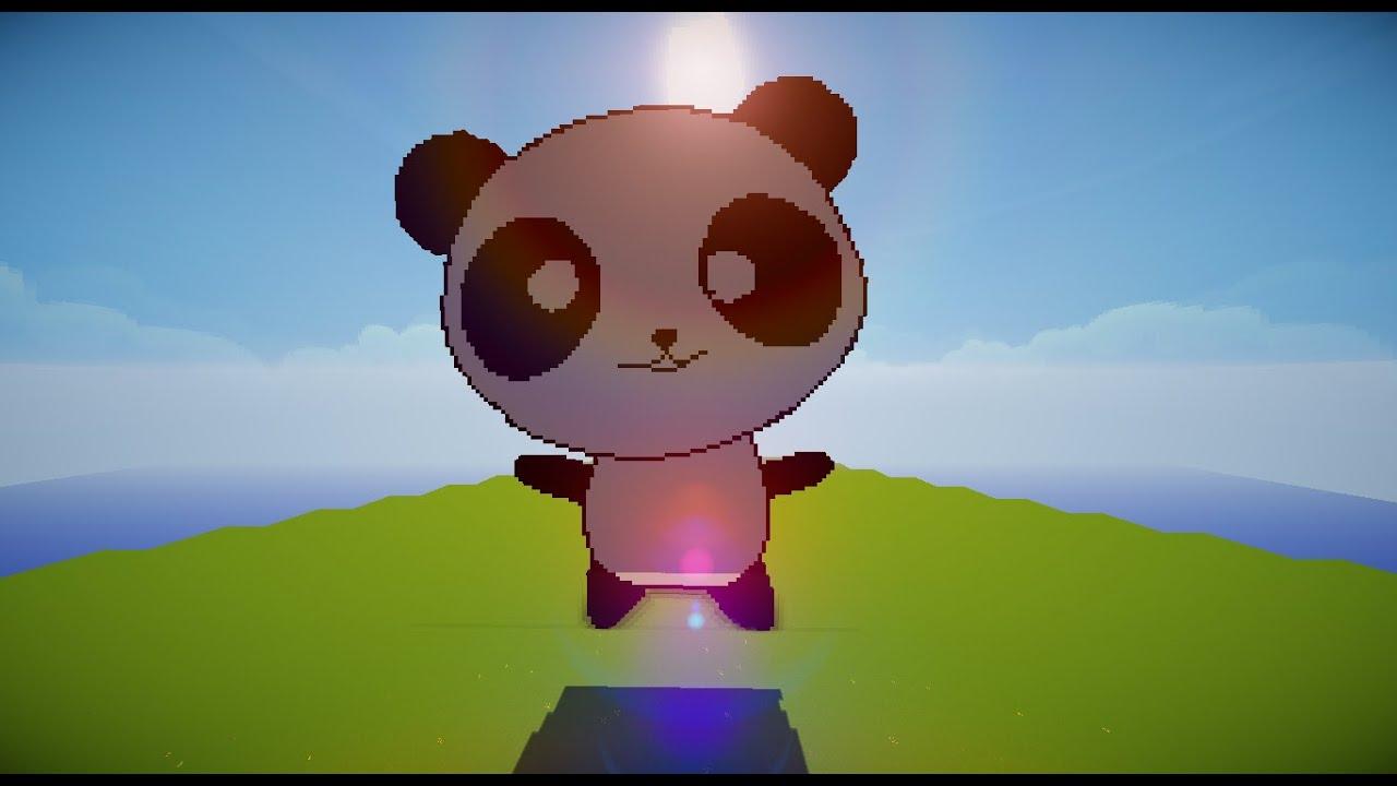 Minecraft Pixel Art Timelaspe Cute Panda