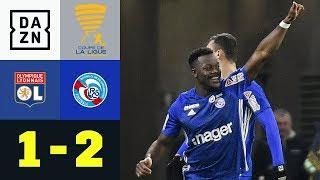 Lamine Kone köpft Strasbourg zum Außenseiter-Sieg: Lyon - Strasbourg 1:2 | Coupe de la Ligue | DAZN
