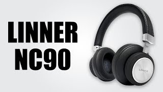 LINNER NC90 Active Noise Cancelling Bluetooth Headphones - Unboxing & Review